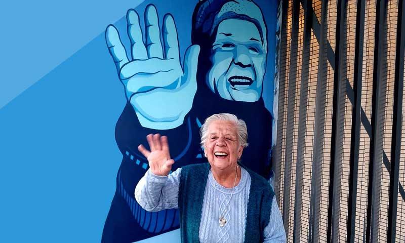 """La mujer """"historia"""" de O'Higgins ya tiene su mural en el estadio El Teniente de Rancagua"""